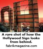 A rare shot of how the Hollywood Sign looks from behind.