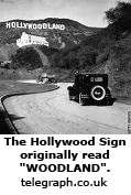 The Hollywood Sign originally read WOODLAND.